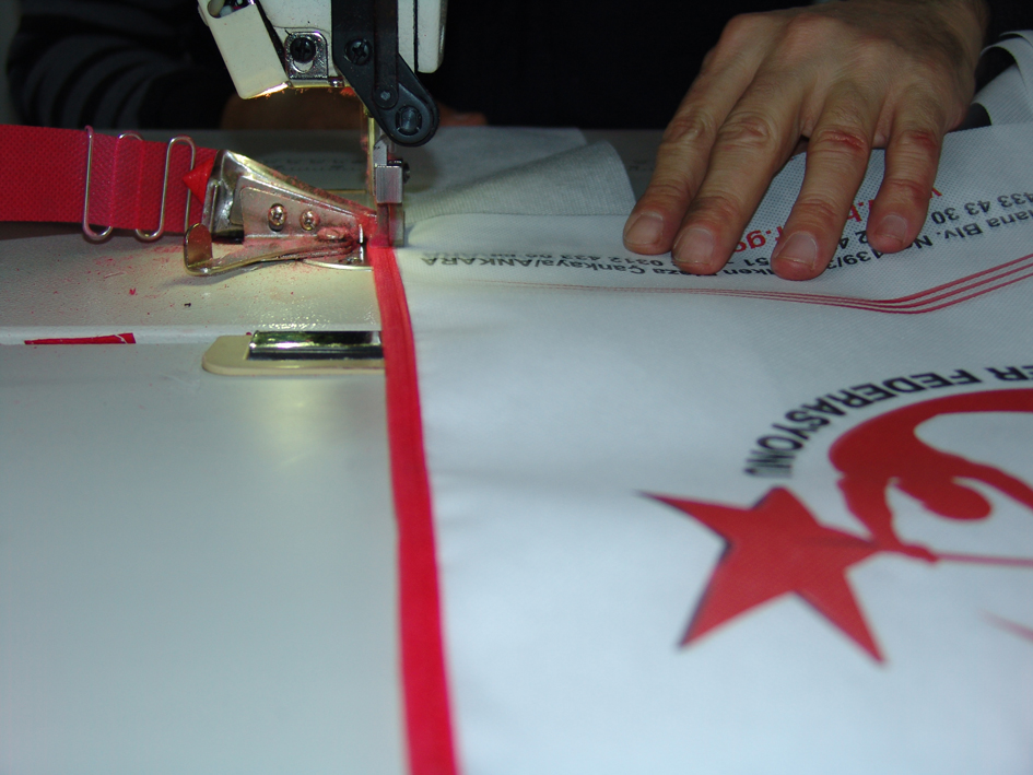 nonwoven tekstil el dikişli çanta üretim 011
