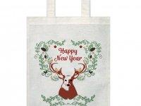 Ham Bez Baskılı Çanta - Noel